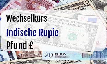 Indische Rupie in Britische Pfund