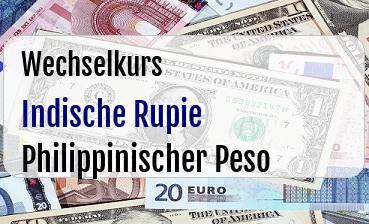 Indische Rupie in Philippinischer Peso