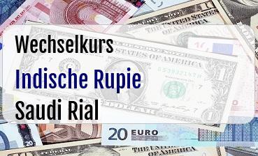 Indische Rupie in Saudi Rial