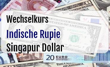 Indische Rupie in Singapur Dollar