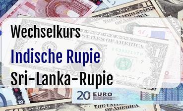 Indische Rupie in Sri-Lanka-Rupie