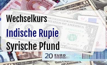 Indische Rupie in Syrische Pfund