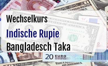 Indische Rupie in Bangladesch Taka