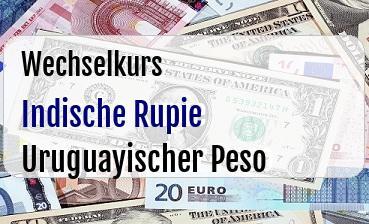 Indische Rupie in Uruguayischer Peso