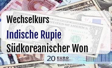Indische Rupie in Südkoreanischer Won