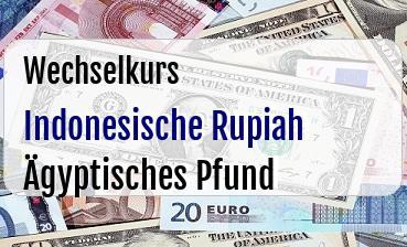 Indonesische Rupiah in Ägyptisches Pfund