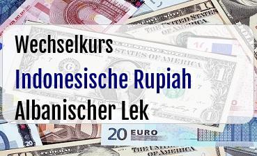 Indonesische Rupiah in Albanischer Lek