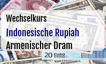 Indonesische Rupiah in Armenischer Dram