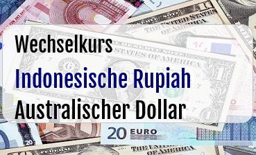 Indonesische Rupiah in Australischer Dollar