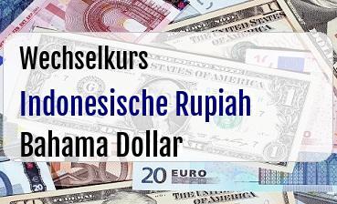 Indonesische Rupiah in Bahama Dollar