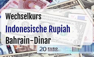 Indonesische Rupiah in Bahrain-Dinar