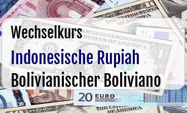 Indonesische Rupiah in Bolivianischer Boliviano