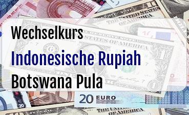 Indonesische Rupiah in Botswana Pula