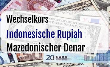 Indonesische Rupiah in Mazedonischer Denar