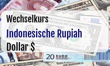 Indonesische Rupiah in US Dollar