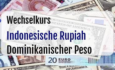 Indonesische Rupiah in Dominikanischer Peso
