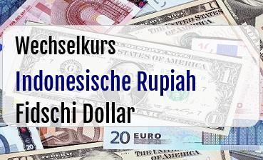 Indonesische Rupiah in Fidschi Dollar