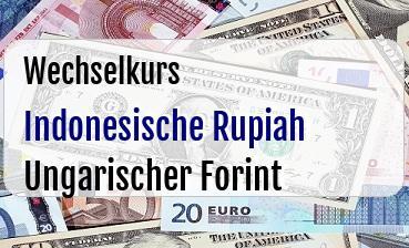 Indonesische Rupiah in Ungarischer Forint