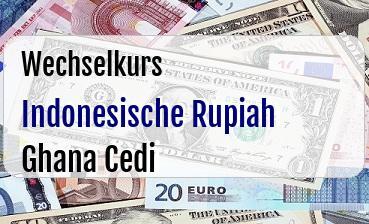 Indonesische Rupiah in Ghana Cedi