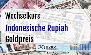 Indonesische Rupiah in Goldpreis