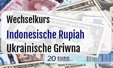 Indonesische Rupiah in Ukrainische Griwna