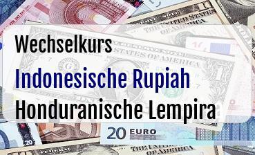 Indonesische Rupiah in Honduranische Lempira