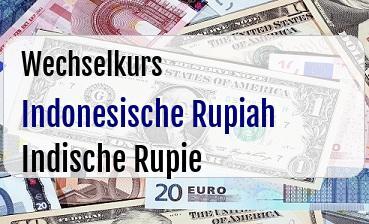 Indonesische Rupiah in Indische Rupie