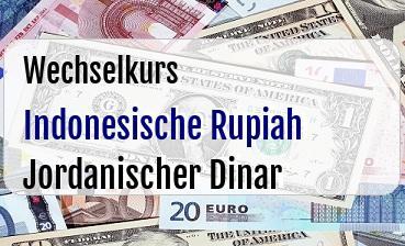 Indonesische Rupiah in Jordanischer Dinar
