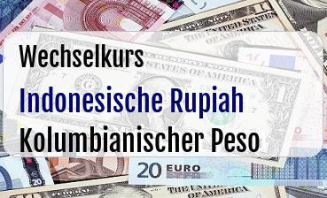 Indonesische Rupiah in Kolumbianischer Peso