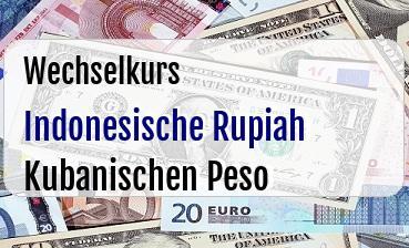 Indonesische Rupiah in Kubanischen Peso