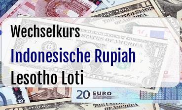 Indonesische Rupiah in Lesotho Loti