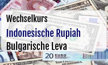 Indonesische Rupiah in Bulgarische Leva