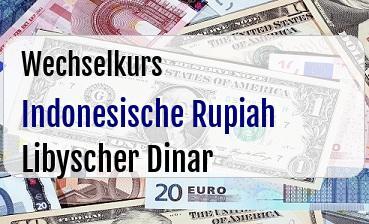 Indonesische Rupiah in Libyscher Dinar