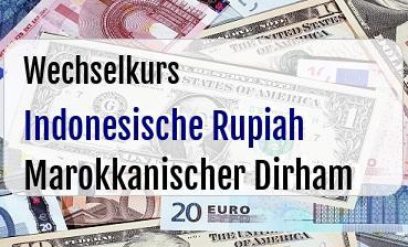Indonesische Rupiah in Marokkanischer Dirham
