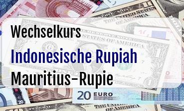 Indonesische Rupiah in Mauritius-Rupie