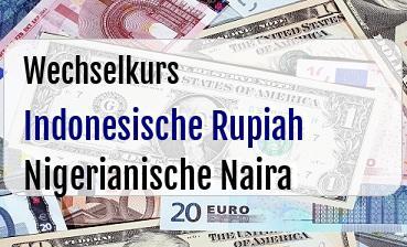 Indonesische Rupiah in Nigerianische Naira
