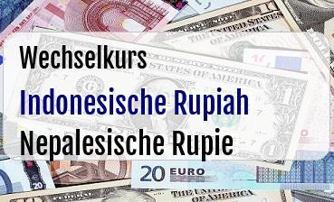 Indonesische Rupiah in Nepalesische Rupie