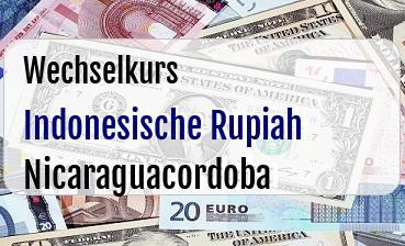 Indonesische Rupiah in Nicaraguacordoba