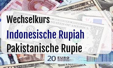 Indonesische Rupiah in Pakistanische Rupie