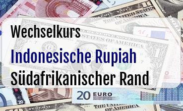 Indonesische Rupiah in Südafrikanischer Rand