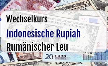 Indonesische Rupiah in Rumänischer Leu