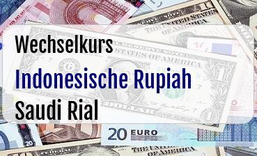 Indonesische Rupiah in Saudi Rial