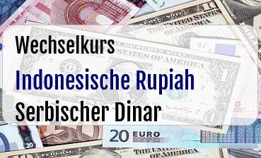 Indonesische Rupiah in Serbischer Dinar