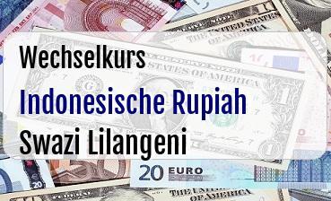 Indonesische Rupiah in Swazi Lilangeni