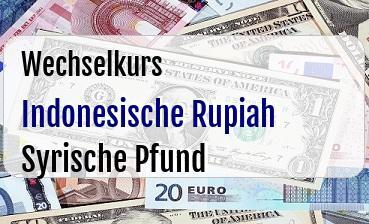 Indonesische Rupiah in Syrische Pfund