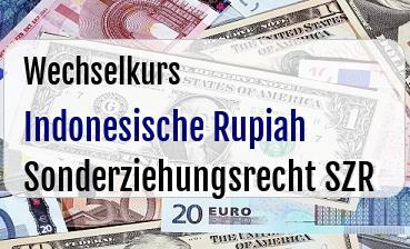 Indonesische Rupiah in Sonderziehungsrecht SZR