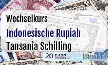 Indonesische Rupiah in Tansania Schilling