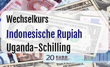 Indonesische Rupiah in Uganda-Schilling