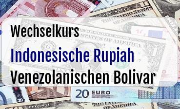 Indonesische Rupiah in Venezolanischen Bolivar