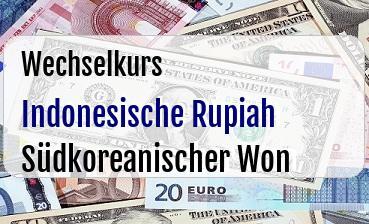 Indonesische Rupiah in Südkoreanischer Won